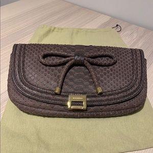 Burberry Prorsum Iris Python Leather Clutch Bag